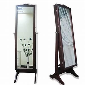 Spiegel Mit Schmuckaufbewahrung : 155cm 157cm schmuckschrank mit spiegel schrank schmuckkasten schmuckkommode de braun ~ Indierocktalk.com Haus und Dekorationen