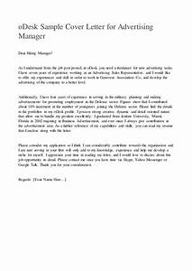 odesk sample cover letter for advertising manager With a cover letter is an advertisement