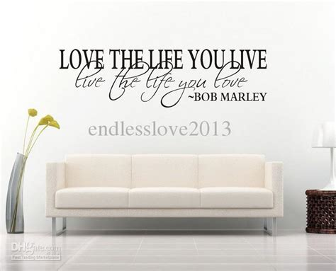 Home Decor Quotes : Bob Marley Quote Wall Decal Decor Love Life Wall Sticker