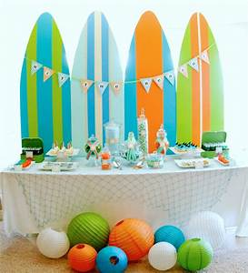 Kara's Party Ideas Surf's Up Summer Pool Party!   Kara's ...