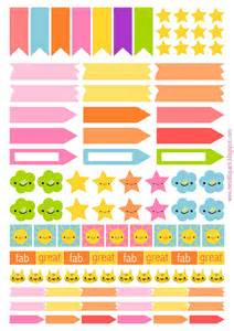 free printable planner flags and stickers ausdruckbare