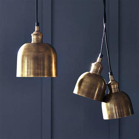 Flori Brass Pendant Light By Rowen & Wren