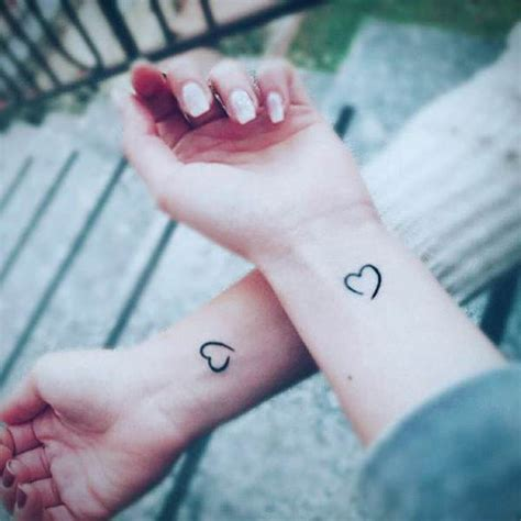 Friend Heart Tattoos for Women