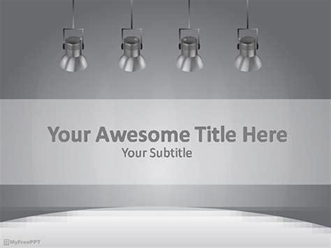 spotlights powerpoint template