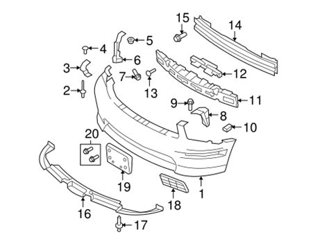 Bumper Components Front For Ford Mustang