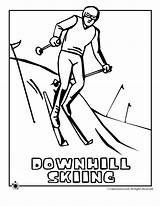 Skiing Coloring Downhill Pages Print Clipart Woo Jr Activities Library Line sketch template