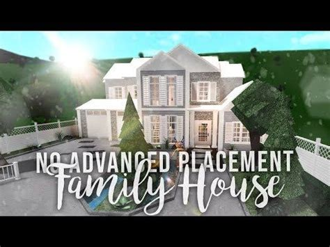 roblox bloxburg  advanced placement family house house build youtube building  house