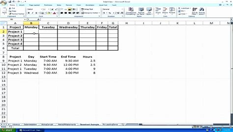 Excel Time Clock Template Bkenp Best Of Hour Sheet For