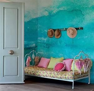 Jugendzimmer Streichen Ideen : streichen mit blau w nde streichen ideen mit wandfarbe hellblau freshouse ~ Indierocktalk.com Haus und Dekorationen
