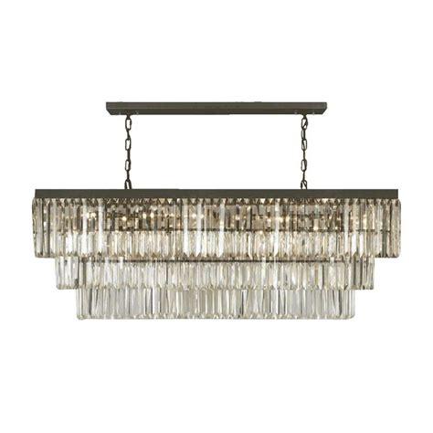 rectangular chandelier gallery odeon fringe 12 light rectangular