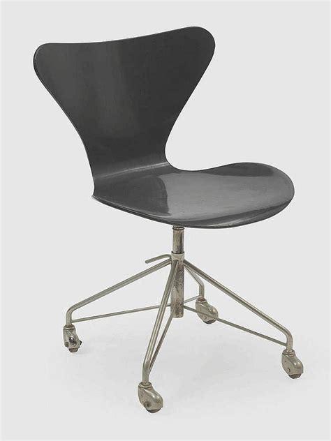 chaise lot de 4 arne jacobsen 1902 1971 chaise de bureau pivotante sur rou