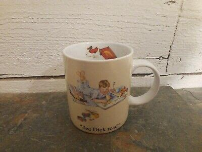 I figured that because it was nearly march i might find a couple on the cheap. Barnes & Noble Coffee Tea Cup Mug See Dick Read Commemorative Jane | eBay