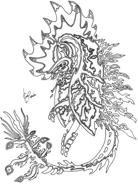 Dragon coloring pages for adults to download and print for