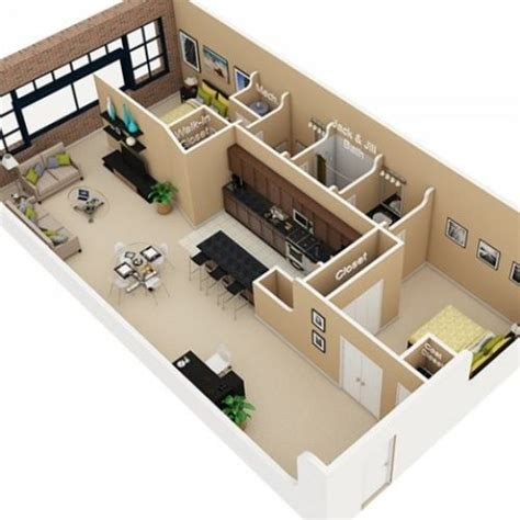 sq ft house plans  bedroom google search