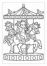 Coloring Carousel Pages Horse Riding Colouring Happy Kid Horses Boys Age Potty Training Getdrawings Sheets Coloringpagesfortoddlers Little Early Only Dari sketch template