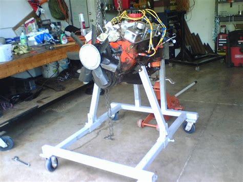 homemade engine test stand plans  dimensions included mycorvetterestortationcom