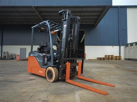 toyota fbe electric powered forklift review