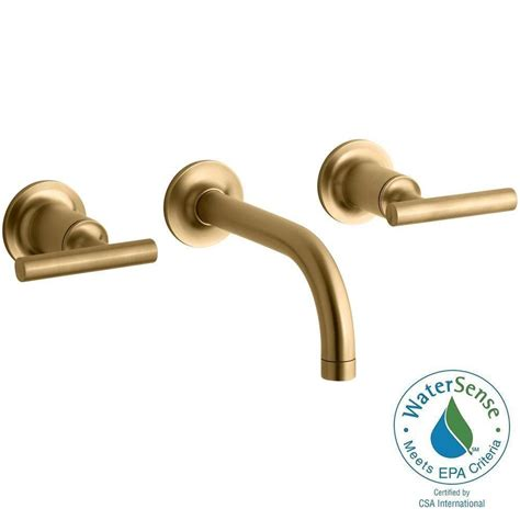 Kohler Purist Faucet Gold by Kohler Purist Wall Mount 2 Handle Bathroom Faucet Trim Kit