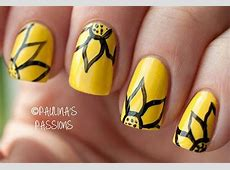 Very Easy Yellow Nail Art Designs & Ideas 2013 2014 For