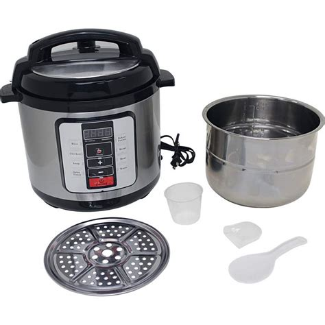 6 3 qt electric pressure cooker with stainless steel inner pot ktelpcs