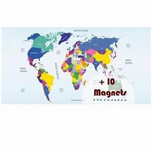 Carte Du Monde Sticker : sticker magn tique carte du monde stickers magn tiques stickers muraux ~ Dode.kayakingforconservation.com Idées de Décoration