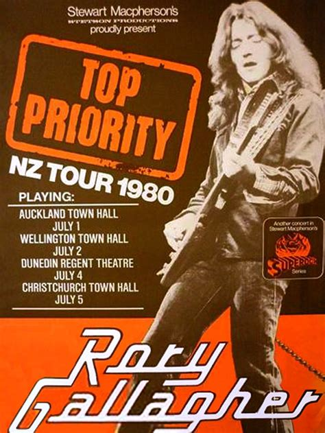 Rory Gallagher  New Zealand 1980  Concert Postersmusic