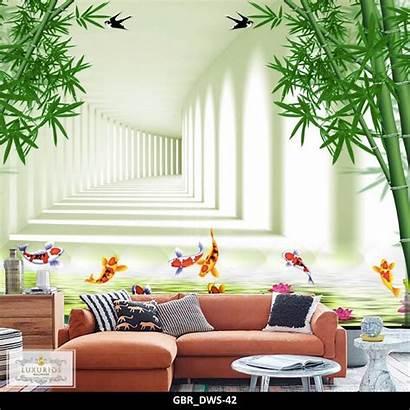Dinding Harga Bambu Gambar Lorong Keren Bata