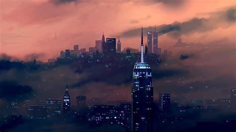 wallpaper  york city empire state building cityscape