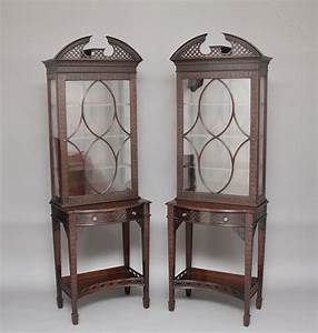 Pair Chinese Chippendale Style Display Cabinets
