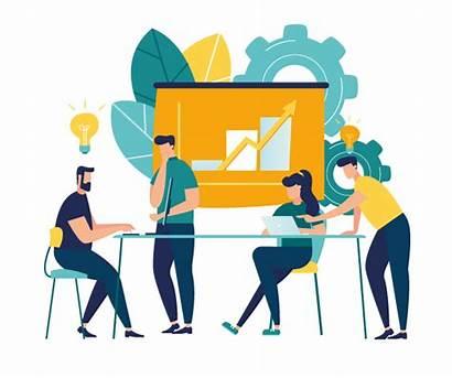 Training Illustration Digital Marketing Workshop Vector Bangladesh