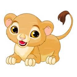 Baby Lion Cartoon Clip Art