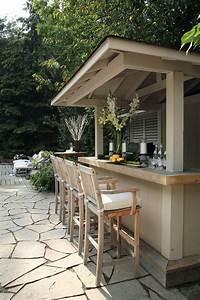 Exterior casual backyard bars designs with comfortable for Outdoor patio bar design ideas