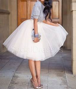 Cute Off White Tutu Tulle Skirt