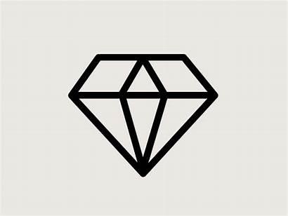 Diamond Outline Dribbble 2d Shape Tattoos Diamonds