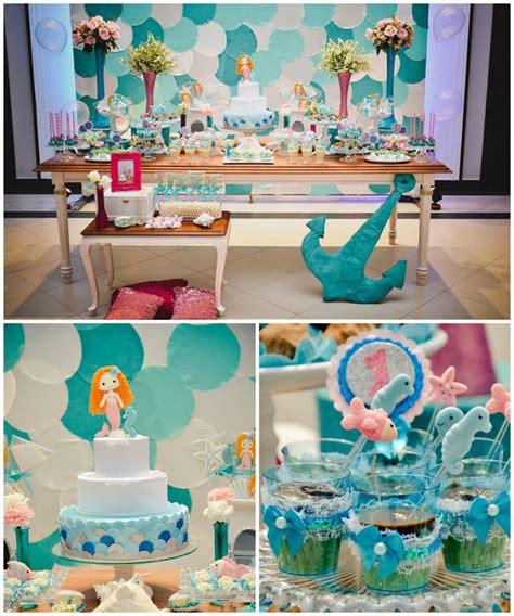 Mermaid Themed 1st Birthday Party Via Kara's Party Ideas