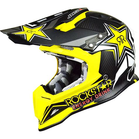 motocross helmet new just1 mx j12 rockstar 2 0 yellow black dirt bike