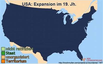 Usa Karte Expansion Frontier Geschichte Lehrerfreund Tafelbild