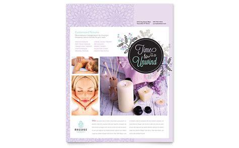 massage flyer template design