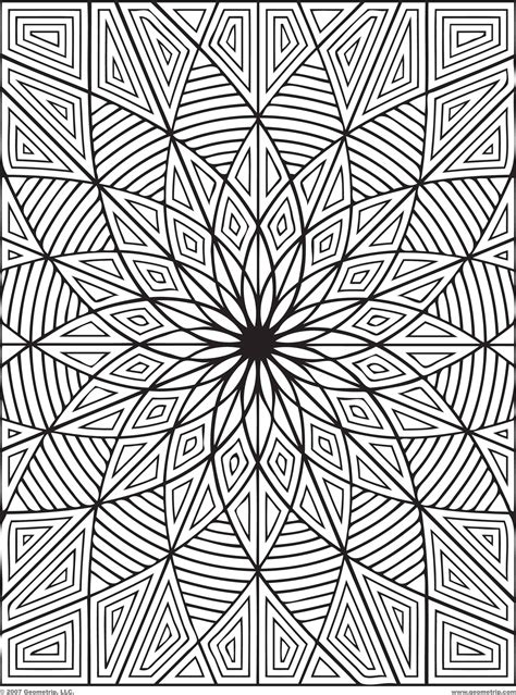 difficult geometric design coloring pages rectangles