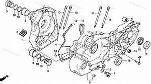 Honda Scooter 1995 Oem Parts Diagram For Crankcase