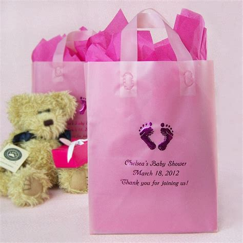 8 x 10 Custom Printed Frosted Baby Shower Gift Bags (Set of 25)