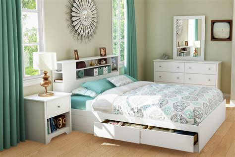 south shore vito collection queen   mates bed pure