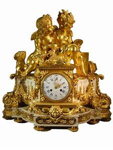 Pendule à Poser : pendule aux amours en bronze dor et marbre xixe si cle ~ Teatrodelosmanantiales.com Idées de Décoration