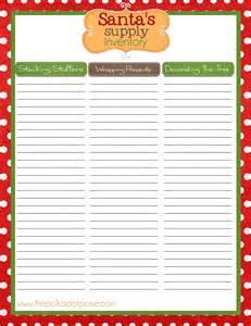 Printable Christmas List Sign Up Template