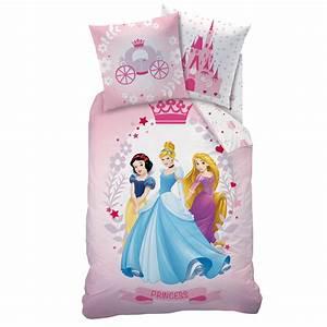 Lit Princesse Fille : princesses diademe parure 140 x 200 coton r f dpr428036 disney princesses decokids ~ Teatrodelosmanantiales.com Idées de Décoration