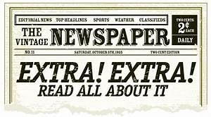 old fashioned newspaper template free - best photos of old time newspaper template editable old