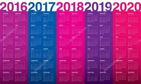 Kalender 2016 2017 2018 2019 2020