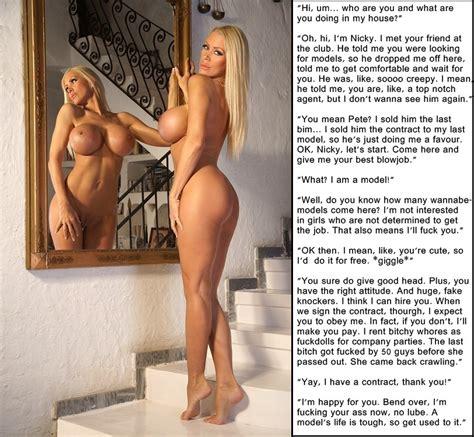 big tit blonde captions