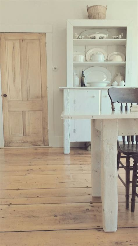 farmhouse kitchen floor tiles wide plank pine floors and white furniture simplistic 7153