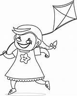 Kite Coloring Boys Children Wecoloringpage Boy sketch template
